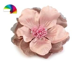Fabric Flower Brooch Ø16 cm