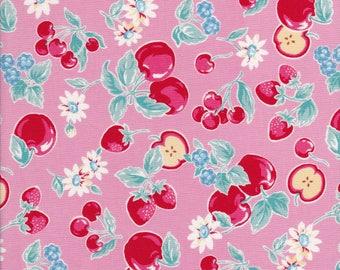 Orchard Kitchen - Apple Fabric - Strawberry Fabric - Cherry Fabric - Raspberry Fabric - Pink Fabric - Lecien Fabric