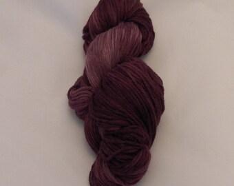 Merlot- Merino Sport Weight Yarn- Hand Dyed- OOAK- 0031