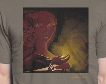 "Men's T-Shirt ""Cave"" Artwork by Todd Powelson, Arteesty"