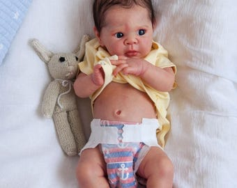 Custom made for you reborn baby eric adrie stoate half torso life like reborn silicone feel doll boy or girl, christmas gift idea