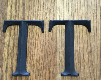VINTAGE FIVE INCH Metal Letter Three Dimensional
