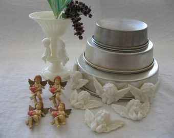 Vintage Cake Decoration Vintage Cake Toppers Vintage Cherub Cake Toppers Vintage Wedding Cake Toppers Angel Cake Topper From Made Of Flaws