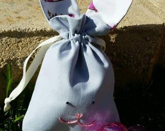 Easter bunny bag - pink birds