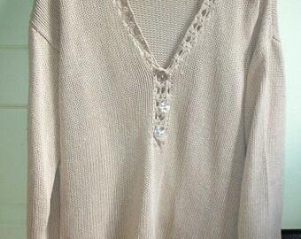 Vintage 100% Silk Sweater