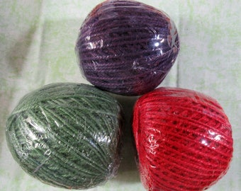 Natural Dyed Burlap Jute Jewelry Cord 2.0mm (B390/91)
