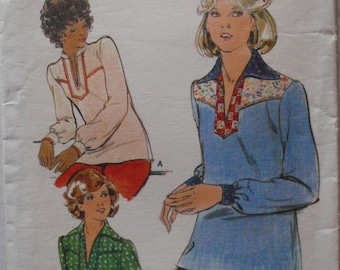 Misses Boho Pullover Top Sewing Pattern - Butterick 4491 - Size 14, Bust 36