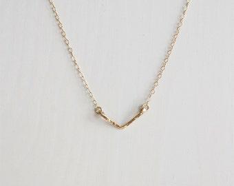 Mini Gold Chevron Necklace, Gold V necklace, Rose Gold necklace, Sterling Silver minimalist necklace, Australian handmade necklace
