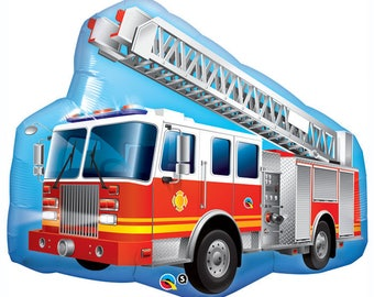 """36"""" Red Fire Truck foil balloon party decoration balloon gift"""