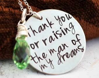 Thank You For Raising The Man Of My Dreams, Mother of the Bride, Mother in Law Gift, Mothers Day Gift Mother In Law