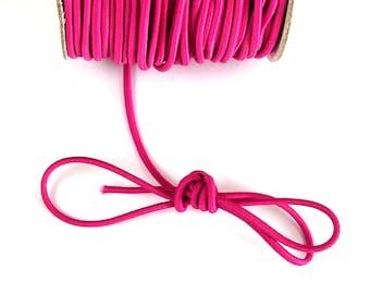 Elastic FUCHSIA covered thread cord nylon 2 mm X 1 meter