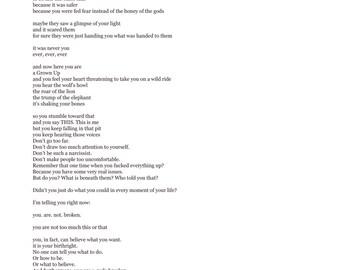 Digital Download of Listen to Me, Misfit, poem