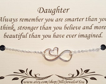Daughter necklace, To Daughter from Mom, Daughter Inspirational Gift, Birthday gift for daughter, wedding gift for daughter, Graduation gift