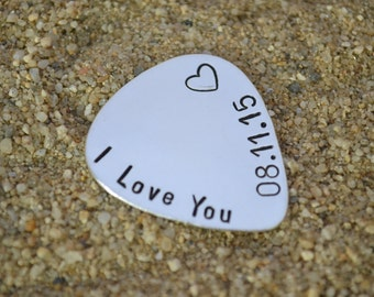 Christmas Gifts, Personalized Gift, Boyfriend Gift, Custom Guitar Pick, Music Lover Gift, Gift for Musician, Anniversary Gifts