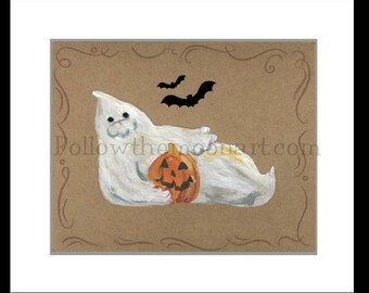 2 Piece Set Welcome To Our Haunted House Ghost, Pumpkin and Bats