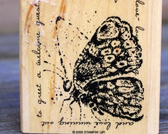Butterfly Wood Mounted Rubber Stamp, Stampin' Up, 2006