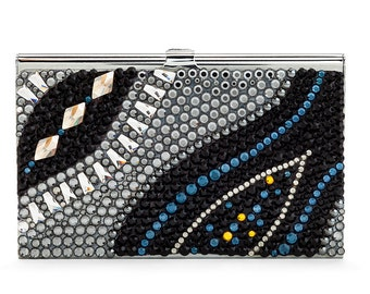Night River Business Card Case Encrusted With Swarovski Crystals
