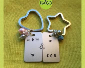 Mum & Son mini Keyrings