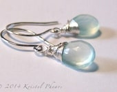 Chalcedony earrings - dro...