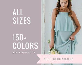 Boho Bridesmaid Dress |  Long  Maxi Dress |  Maid of Honor Dress | Bridal Party Dress |  Boho Formal Dress |  Bohemian Wedding