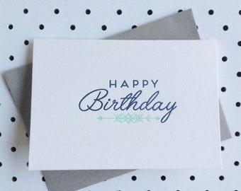 Happy Birthday Letterpress Card