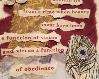 Poetry Art Card #1
