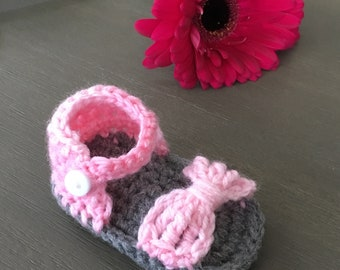 Crochet Baby Girl Sandals FREE SHIPPING!
