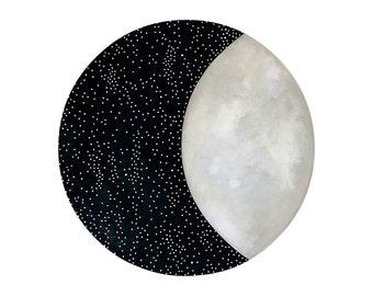 Moon and Stars 12 - Archival 8x8 Art Print - Contemporary Watercolor Painting - Astronomy, Night Sky - by Natasha Newton
