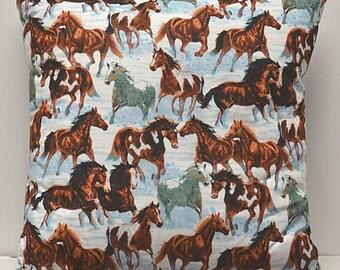 "Horses 20""x20"" pillow"