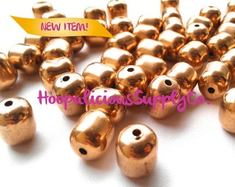 25 ((RARE)) Vintage Gold Donut Beads. Vintage Stock. Ships From USA w/ Tracking Number Incl. for Domestic Buyers. Other Quantities Available