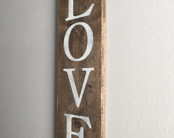 Love rustic wood sign