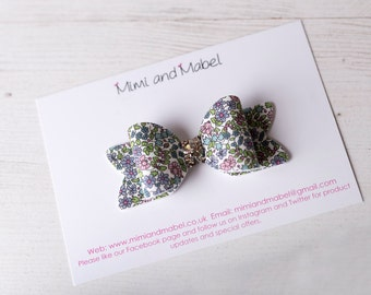 Liberty bow, Liberty baby, toddler hair clips, baby headbands, Liberty of London, baby hair bow, baby hair clip, Liberty headband, baby bows