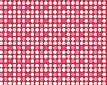 Riley Blake. Christmas Basics. Dots on Red - Cotton Woven Fabric BTY - Choose your cut