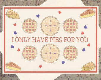 Pi Day Card, Funny Love Card, Romance Card, Valentines Day Card, Love Card, Funny Valentine Card, Cute Valentine Card, Pun Card, Pie Card