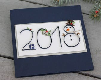 Merry Christmas Holiday Cards New year's 2018 Tis The Season Cards