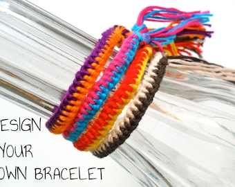 Custom 2-Color Zipper Friendship Bracelet