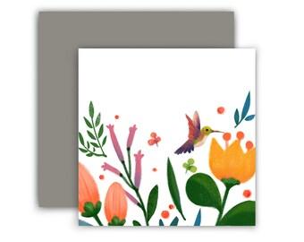 Mini Humming Bird Card