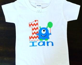 Monster Shirt, First Birthday, monster birthday shirt