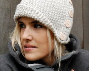 Knitting PATTERN-The Piper Cloche' (Toddler, Child, Adult sizes)