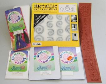 Destash Crafting Lot Rubber Stamping Bookmarks