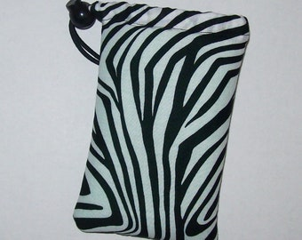 "Pipe Pouch, Pipe Bag, Pipe Case, Padded Pouch, Trippy Lines Bag, Black White Bag, Smoke Accessory, Padded Bag, Stoner Gifts - 5"" DRAWSTRING"