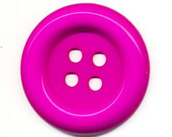 Big button pink clown plastic fuchsia big button