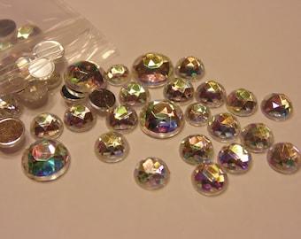 40 piece multi shine rhinestone mix, 5-12 mm (S6)