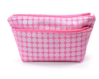 Small Pink Pouch Cosmetic Travel Bag
