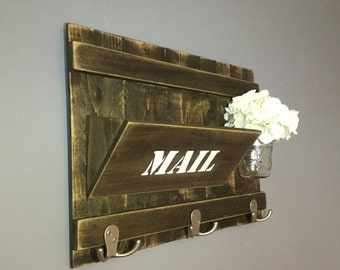 Rustic Mail Organizer and Key Holder