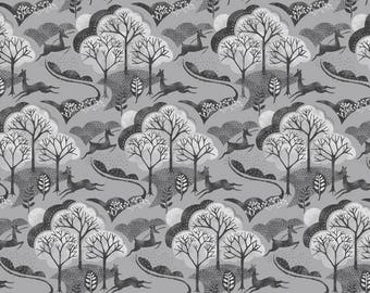 Into The Woods - Trees in Grey - Fat Quarter