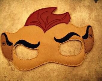 Child's Mask -  Lion Cub - Kion  - The Lion Guard