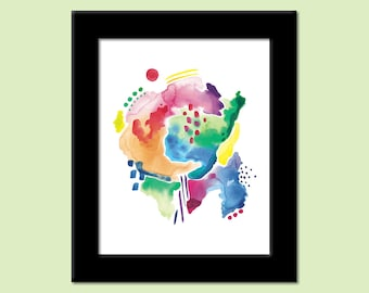Abstract 4 - Colorful Contemporary Modern Art Print by Megan Q.C. Gallagher