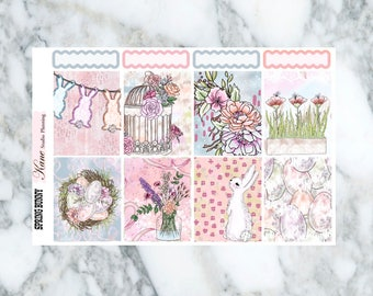 Spring Bunny // Weekly Kit - Erin Condren Life Planner Vertical 165+ stickers