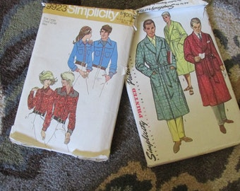 Set of Two Vintage Patterns Men and Womans